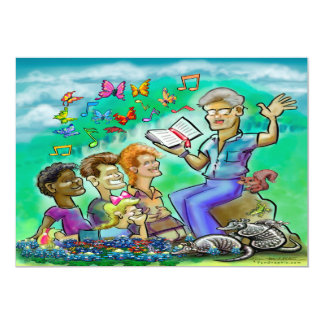 Escola da bíblia das férias convite 12.7 x 17.78cm