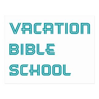 Escola da bíblia das férias de turquesa cartão postal