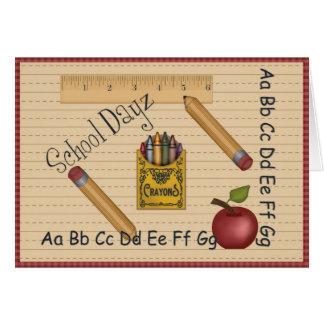 Escola Dayz Notecard Cartão