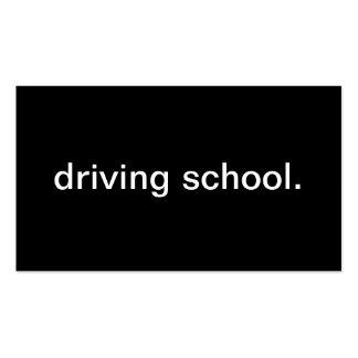 Escola de condução cartao de visita