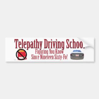 Escola de condução da telepatia adesivo