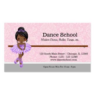 Escola de dança cartão de visita