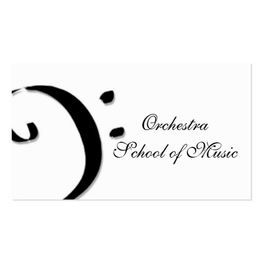 escola de música cartão de visita