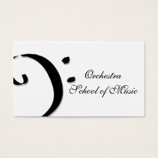escola de música cartão de visitas