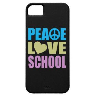 Escola do amor da paz capa barely there para iPhone 5
