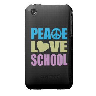 Escola do amor da paz capas para iPhone 3 Case-Mate