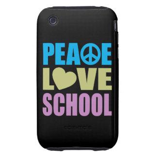 Escola do amor da paz capinhas para iPhone 3 tough