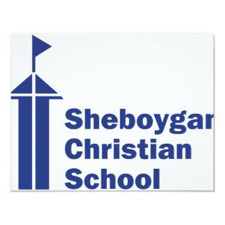 Escola do cristão de Sheboygan Convite 10.79 X 13.97cm