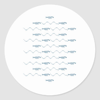 Escola do logotipo da arte do texto dos peixes adesivo