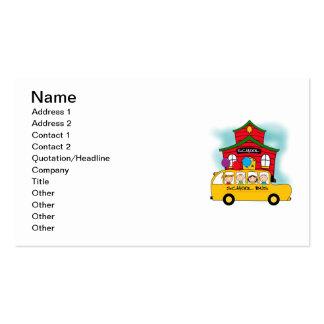 Escola e t-shirt e presentes do auto escolar cartão de visita