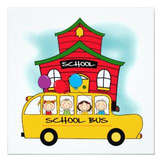 Escola e t-shirt e presentes do auto escolar convite quadrado 13.35 x 13.35cm
