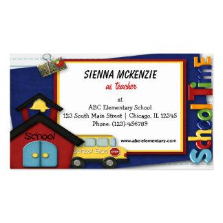 Escola primária do professor cartão de visita
