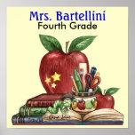 Escola/professor/poster da sala de aula - SRF