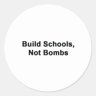 Escolas da construção não bombas adesivos