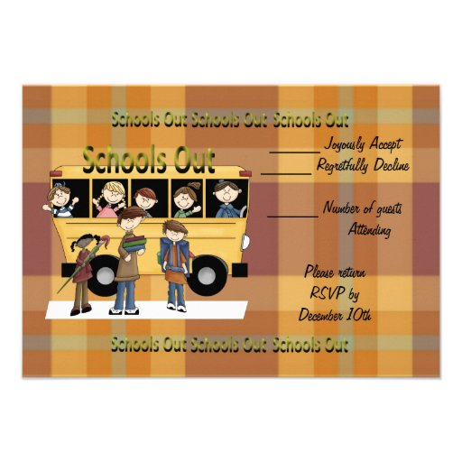 Escolas para fora convites personalizados