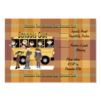 Escolas para fora convite 8.89 x 12.7cm