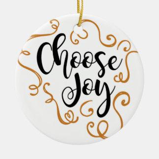 Escolha a alegria, enfeites de natal