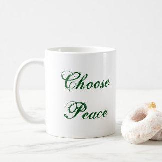 Escolha a caneca da paz