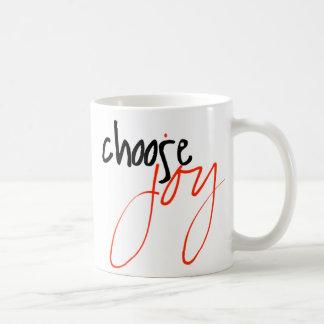 Escolha a caneca de café da alegria