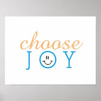 Escolha a cara feliz da alegria poster