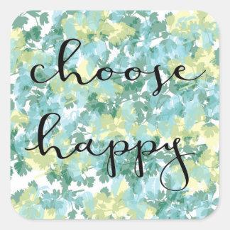escolha a etiqueta feliz