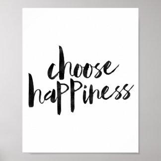 Escolha a felicidade poster