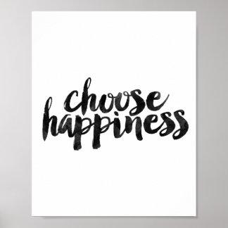 Escolha a felicidade pôster