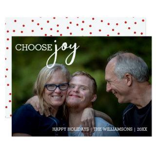 Escolha a foto feliz do feriado do Natal moderno Convite 12.7 X 17.78cm