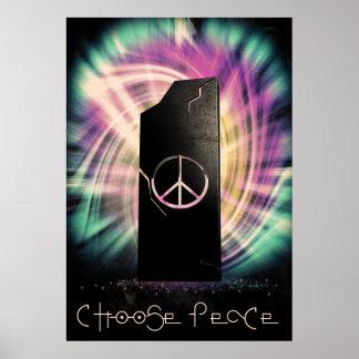 Escolha a paz poster
