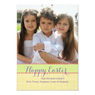 Escolha cola acima o cartão de páscoa da foto convite 12.7 x 17.78cm