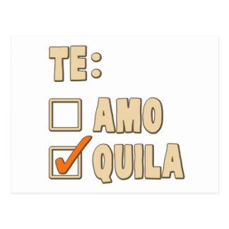 Escolha do espanhol do Tequila de Te Amo Cartão Postal