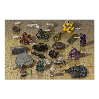 Escolha dos minerais poster