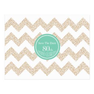 Escolha economias da festa de aniversário do 80 da cartão postal