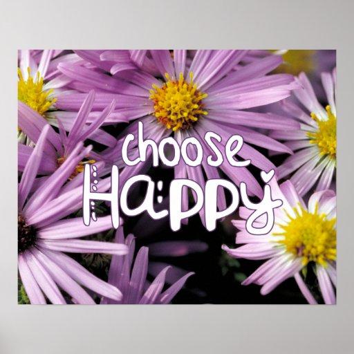 Escolha feliz pôsteres