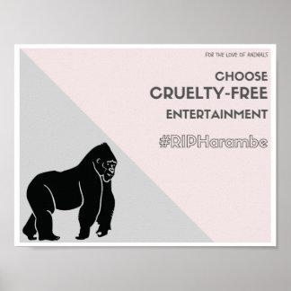Escolha o entretenimento crueldade-livre pôster