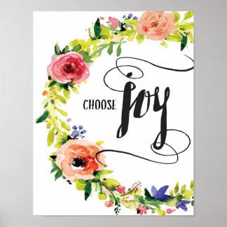 Escolha o impressão da arte da alegria