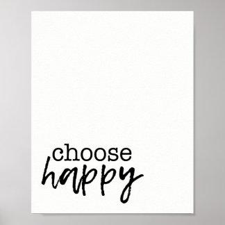Escolha o impressão Home feliz da inspiração da