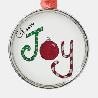 Escolha o ornamento da alegria
