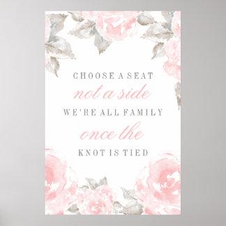 Escolha rosas de uma aguarela do poster   de Seat