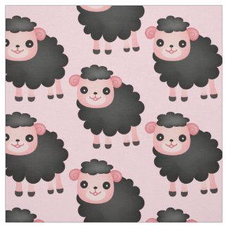 Escolha seu tecido das ovelhas negras da cor do