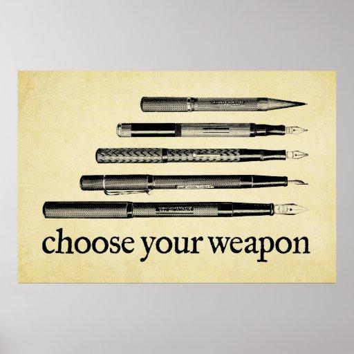 Escolha sua arma impressão
