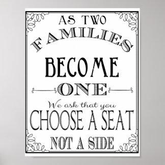 Escolha um assento não um poster lateral do