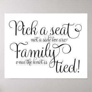 Escolha um giz do assento e brilhe sinal do poster