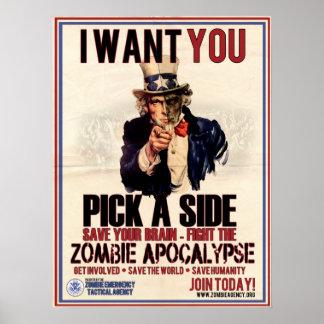 Escolha um poster lateral do tio Sam Pôster