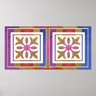 Escolhas ESPERTAS da cor - decorações Poster