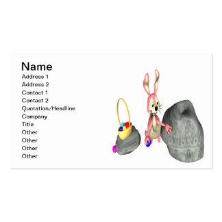 Esconder do ovo do coelhinho da Páscoa Cartões De Visitas