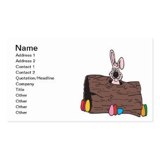 Esconder do ovo do coelhinho da Páscoa Cartão De Visita