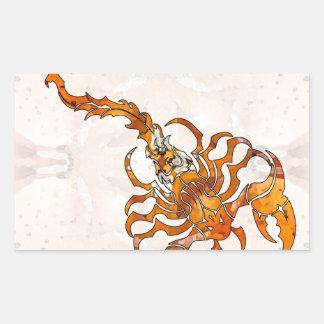 Escorpião 04 da mandala adesivo retangular