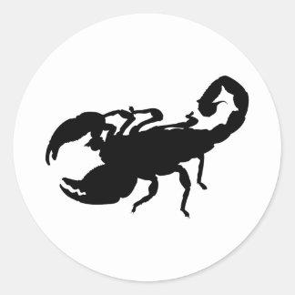 Escorpião Adesivo Redondo