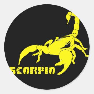 Escorpião - amarelo adesivo